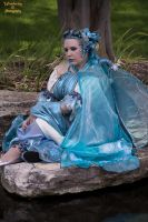 Water fairy sitting by the pond by AzreGreis