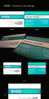 SHDD. business card design by Basti93