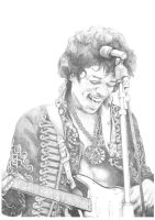 Jimi Hendrix Portrait by Carl-Seager
