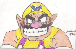 Wario Drawing by MarioSimpson1