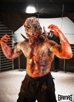 Flipper man / alien make-up FX: Ari Savonen by NSFF