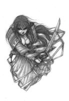 samurai woman-pencil by CopperAge