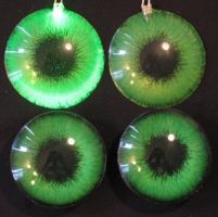 Green eye sets led and 3D by Monoyasha