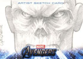 Avengers Assemble Sketchcard - Red Skull by theopticnerve