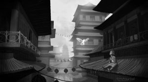 Chinese City (The Gift) by maugryph