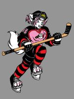 Kit the Hockey Fox by WafflesMcCoy
