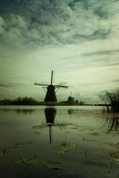 Windmills at Kinderdijk, by gogstyle