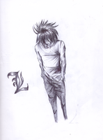 L Lawliet from Death Note by GothamGirlDC