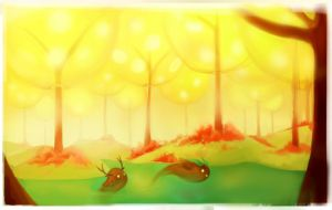 Glowing Forest by Morisan