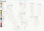 Original Story Ref Sheet 4/4 - Gavin by The101stDalmatian