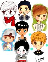 Exo sketches by Ice-Chanxx