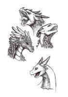 A Couple Dragons by Clockhound