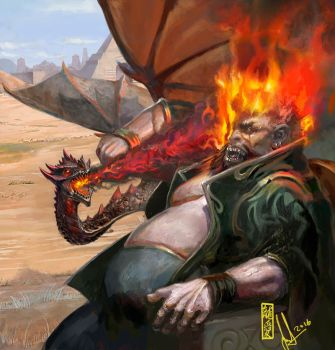 FFG card art- A Dragon Is No Slave by DavidSondered