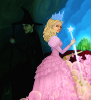 +Wicked+ Glinda and Elphaba by greendesire