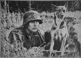 Soldier with dog by chuckie96
