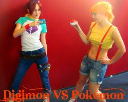 Digimon VS Pokemon by 3lisA