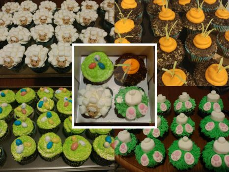 All my Easter cupcake designs! by Annamarie2014