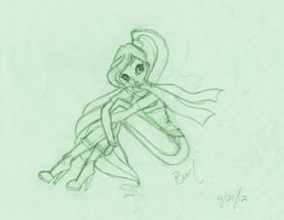 Bloom Winx Cafe Sketch by WinxThinkPink