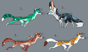 Adopt Auction Weasels and Fox SOLD by MystikMeep