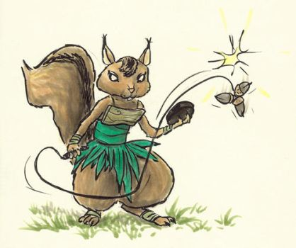 Female battle squirrel by fan4battle
