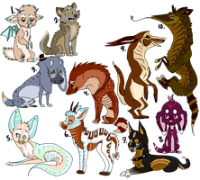 More Adoptables .:OPEN:. by moved-acc