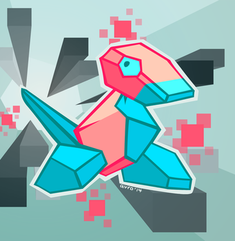 Day 26: Favourite Man-Made Pokemon - Porygon by avroillusion