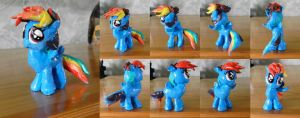 Rainbow Dash Filly Clay Statuette by nicolaykoriagin