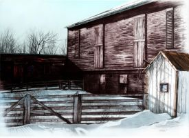 Winter Barn by Jeff-Jumpers-art