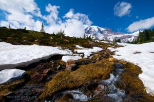 en route mount. rainier by enzk