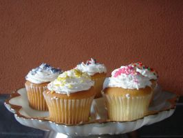 Assorted Decorated Cupcakes 3 by FantasyStock