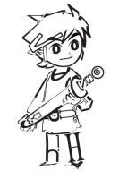 Toon Link by Letters by xIchixCoolxGirlx