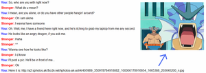 My First Conversation in Omegle by BattlePyramid