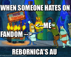 When someone hates on Rebornica's AU in a nutshell by Meowpokemon