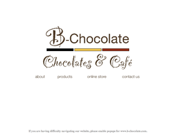 B-Chocolate Website Design by gamesandgigs