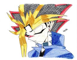 Colored pencil Yami Yugi by xMystery21x