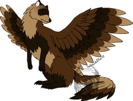Feathered Ferret by SabarielLocien