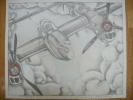 P-38 drawing 2 by BaronGirl