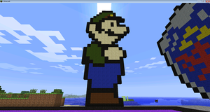 Luigi Minecraft by BakaHentai90