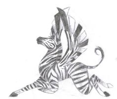 Winged Zebra by onlyono