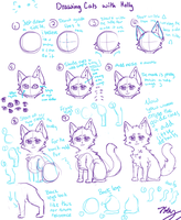 Cat TUTORIAL (anime style) by DAChibiii