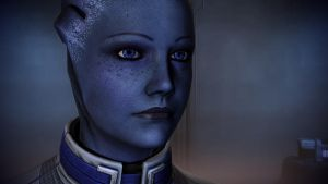 Liara T'Soni in Javik's quarters by Hallucinogenmushroom