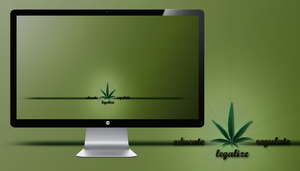 Educate Regulate Legalize Wallpaper by miguelsanchez666