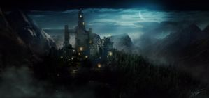 A night Castle... by NatMonney