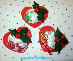 Holiday sweet heart rings by The-Cute-Storm