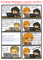 Cullen and Aveline on Facebook by SilverHyena