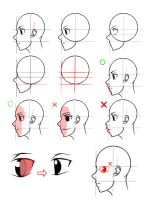 How to draw manga Perfil Head tutorial by MrKaroruso