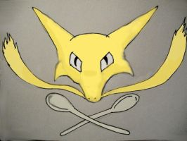 Alakazam and Cross-Spoons by DreamDrifter91