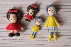 Mafalda e Coraline by theredprincess
