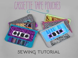 Sewing Tutorial - Cassette Tape Zipper Pouch by SewDesuNe