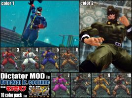SSF4AE Dictator Brocken Jr. Costume MOD by dsFOREST